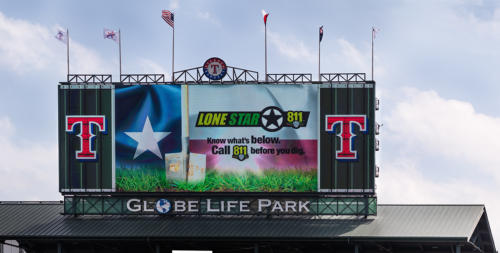 Lone Star 811 Center Field Board